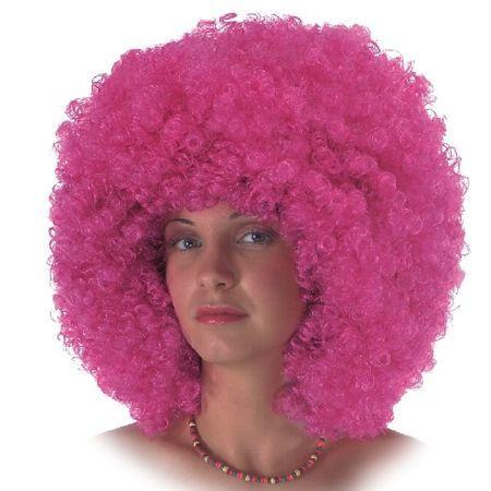 Perruque Bouclée Disco Rose