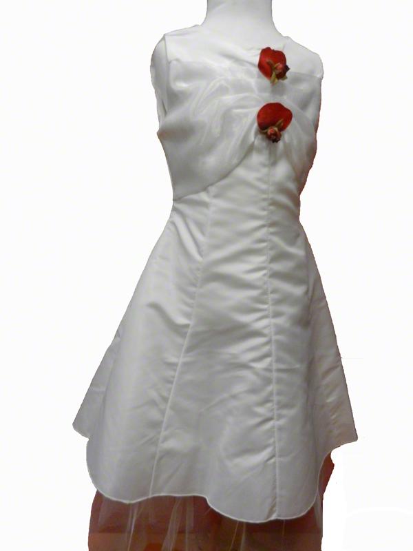 Robe de cérémonie enfant blanche et rouge