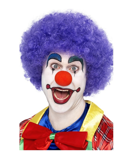 Perruque pop clown mauve