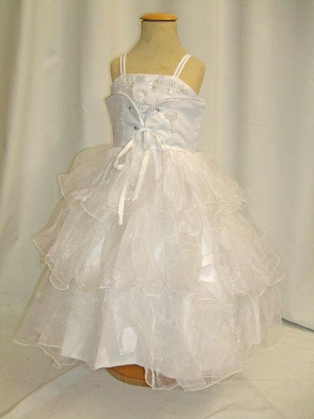 Robe corset de cérémonie enfant blanche