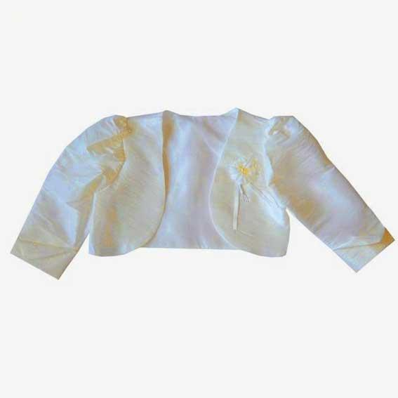 Boléro perlé ivoire pour enfant