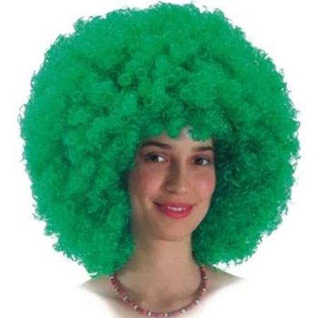 Perruque bouclée disco verte