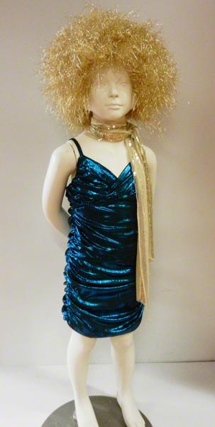 Déguisement robe disco enfant bleue