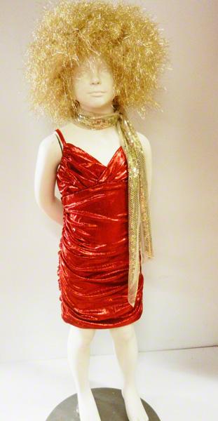 Déguisement robe disco enfant rouge métallisé