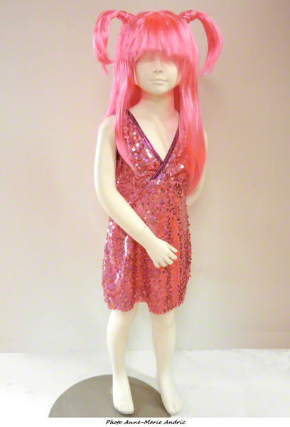 Déguisement disco enfant rose