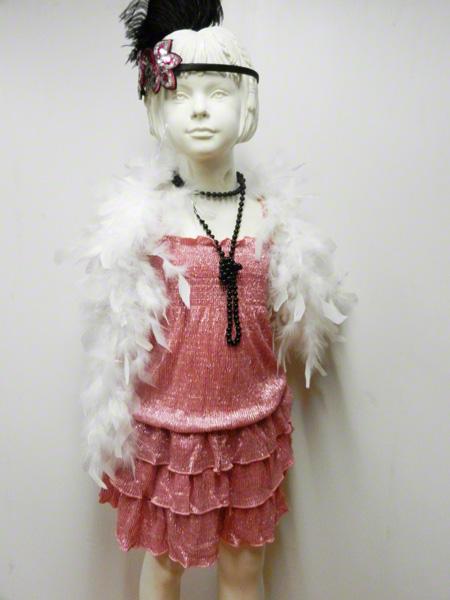 Robe disco enfant métallisée rose