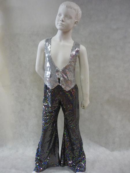 Pantalon disco enfant à paillettes
