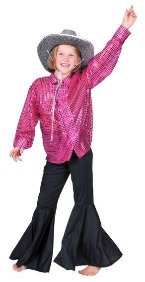 Chemise Disco Enfant à Paillettes Fuchsia