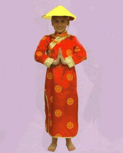 Déguisement Chinoise Enfant Rouge