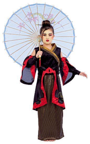 Déguisement de Geisha Avec l\'Ombrelle
