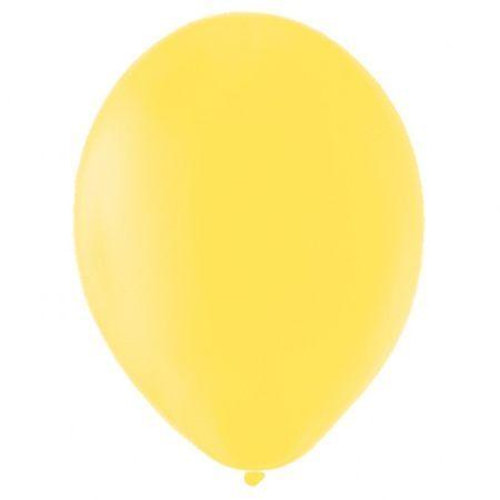 50 ballons latex jaunes