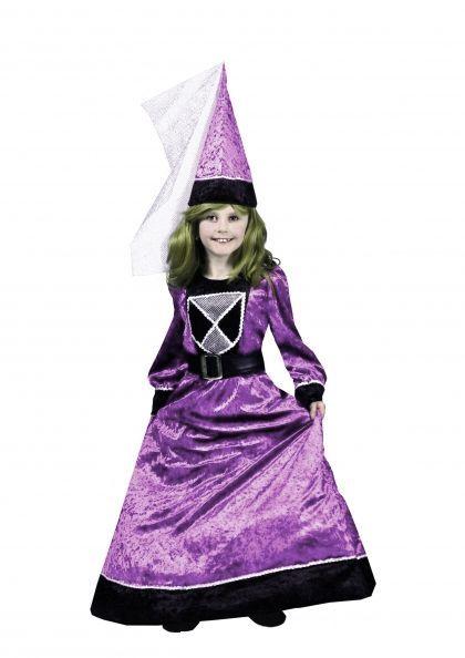 Déguisement Reine Médiévale Enfant Lilas