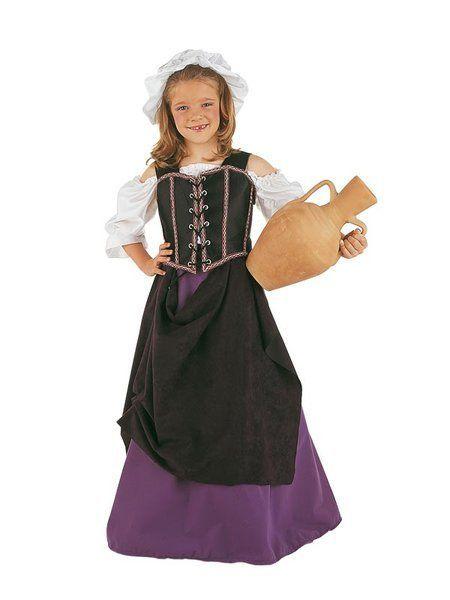 Déguisement de Tavernière Médiévale Violine Enfant