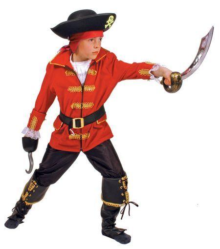 Déguisement Pirate Enfant Rouge
