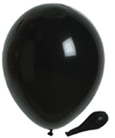 50 ballons métallisés noirs