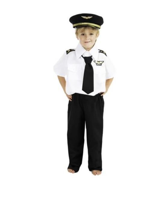 Déguisement de pilote de ligne enfant