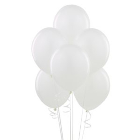 12 ballons latex blancs