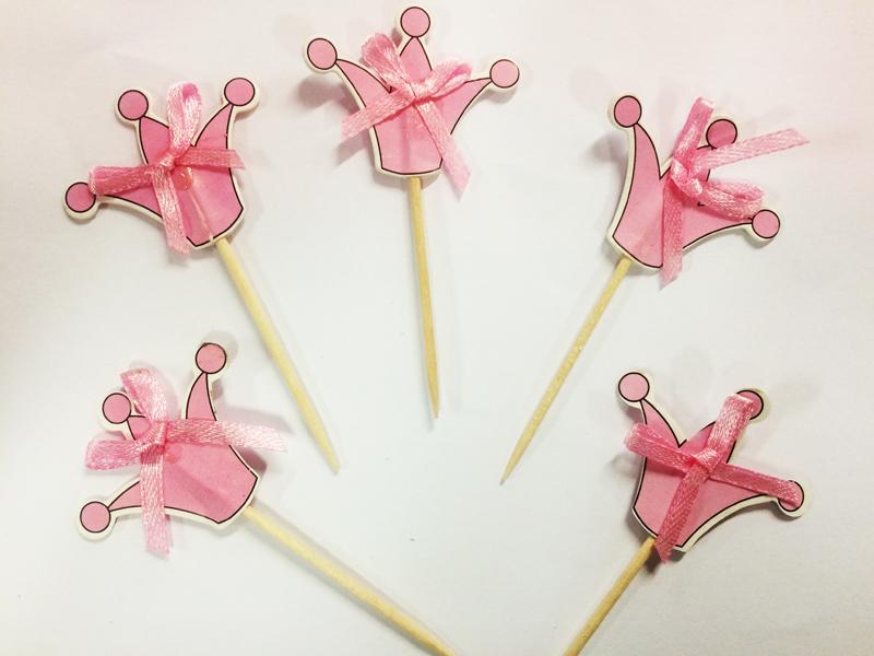 MINI piques à cup cakes thème princesse