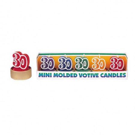 5 Mini Bougies 30