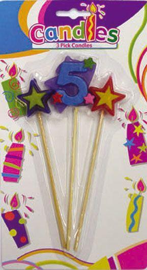 3 Bougies Chiffre 5