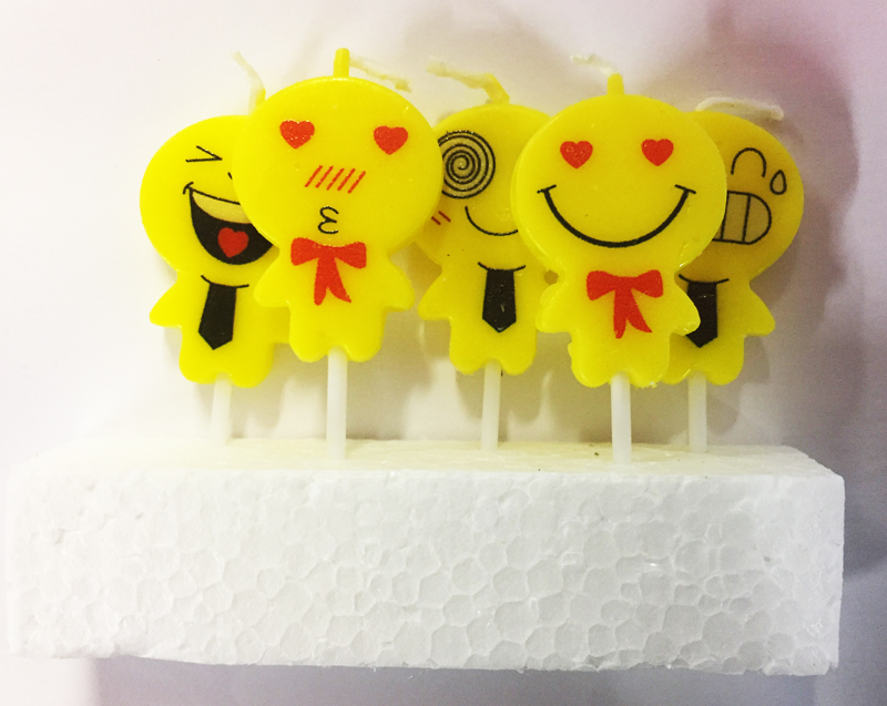 5 bougies emoticones