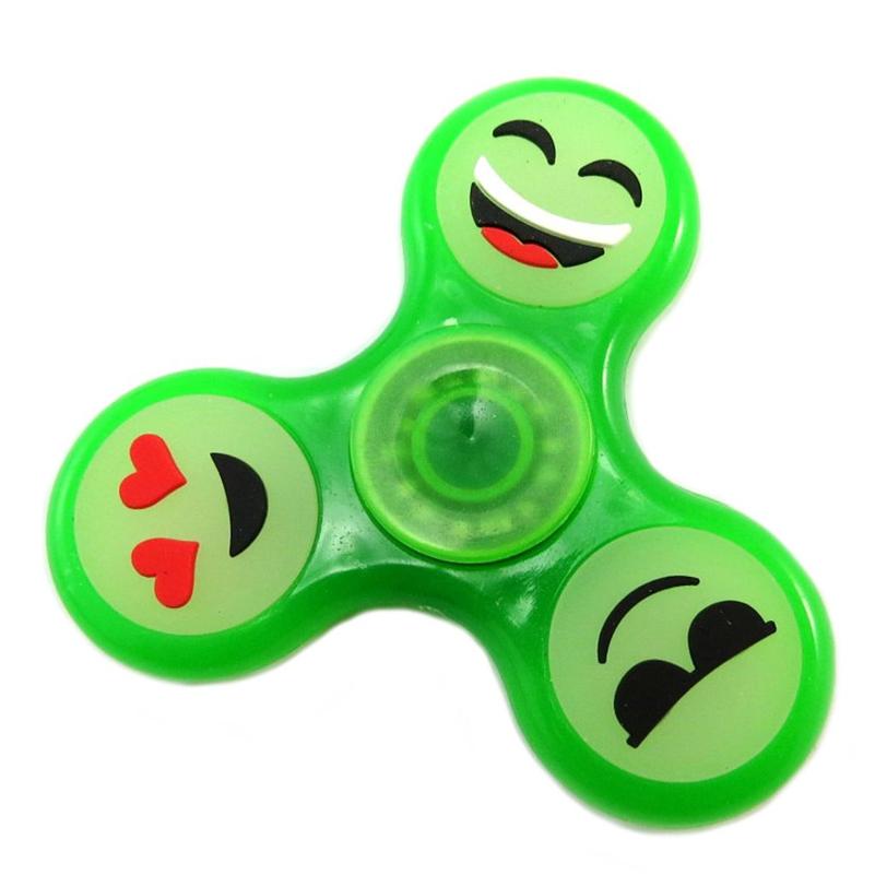 Handspinner phosphorescent Emoticone