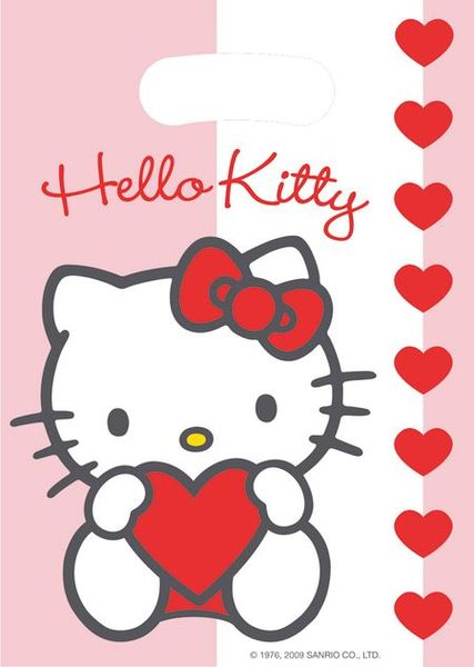 6 Sachets Cadeaux (16X23 Cm) - Hello Kitty©