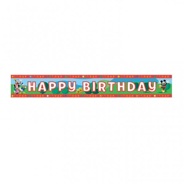 Bannière Happy Birthday thème mickey