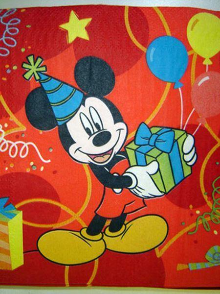 20 Serviettes Mickey