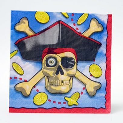16 Serviettes Pirate 33Cmx33Cm