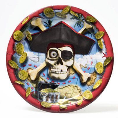8 Assiettes Pirate 24 Cm