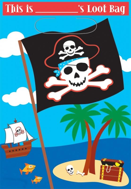 8 Sacs à bonbons pirates
