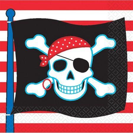 16 Serviettes Pirate