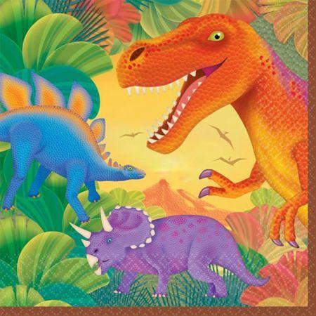 Serviettes Dinosaures