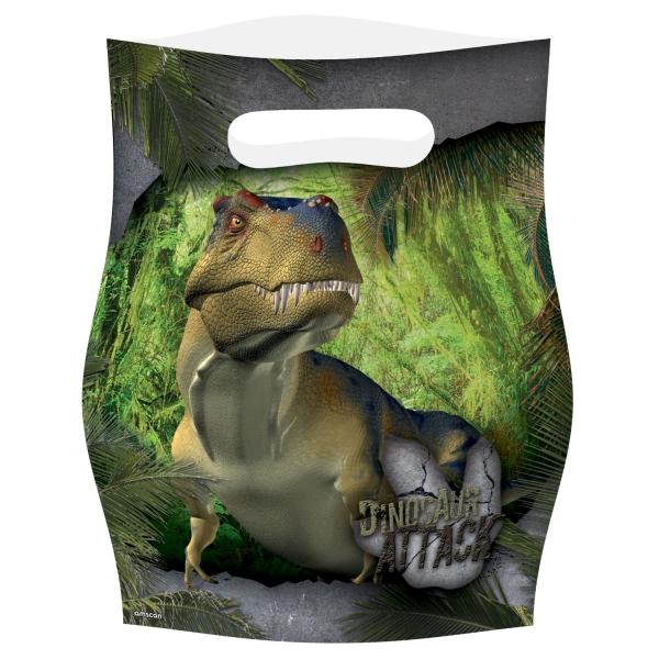 8 sachets pour cadeaux Dinosaures
