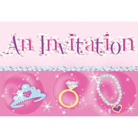 Invitations Thème Princesse