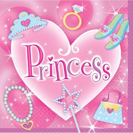 16 Serviettes 2 Plis Princesse