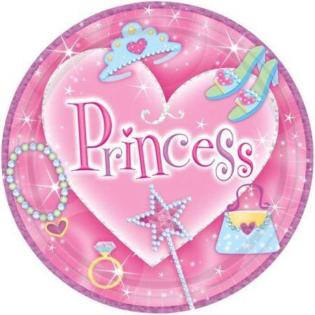 8 Assiettes 23 Cm Princesse