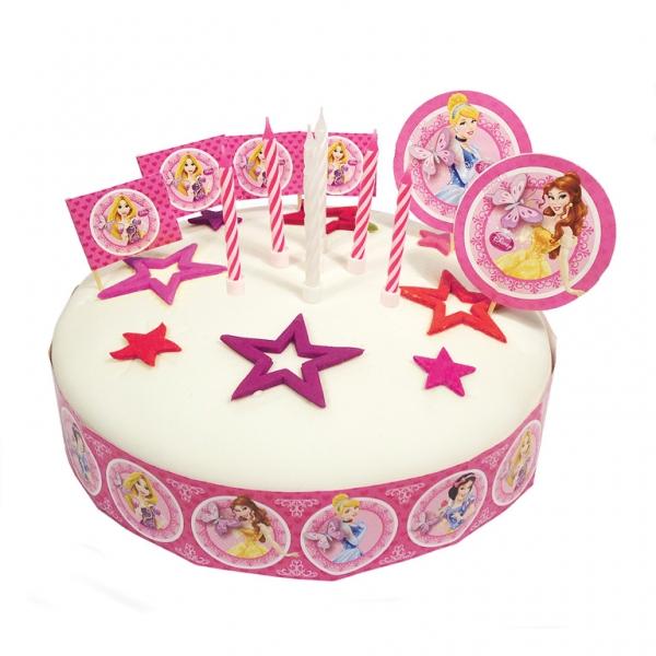 19 décorations pour gâteaux Thème Princesse