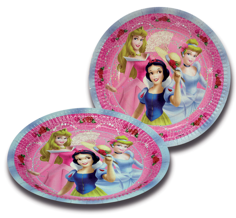 10 Assiettes 18Cm Princesses