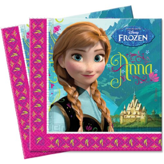 20 serviettes Princess Frozen  Reine des neiges