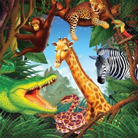 Serviettes Safari
