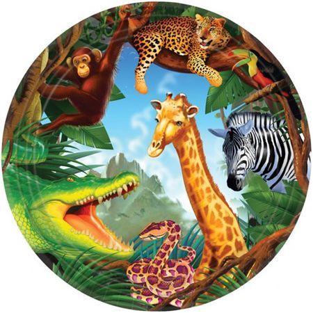 Assiettes Safari