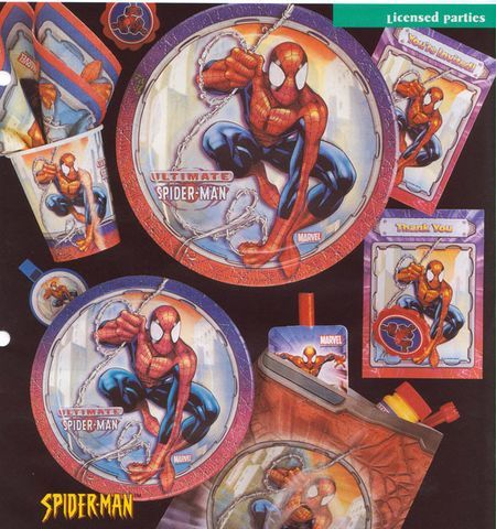 8 Assiettes Spiderman 22.9Cm
