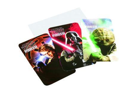 6 Cartons d\'Invitation Star Wars