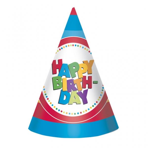 6 chapeaux Happy Birthday