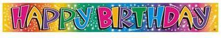 Bannière Métallique Happy Birthday