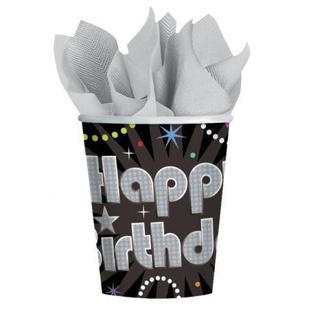 8 Verres Happy Birthday