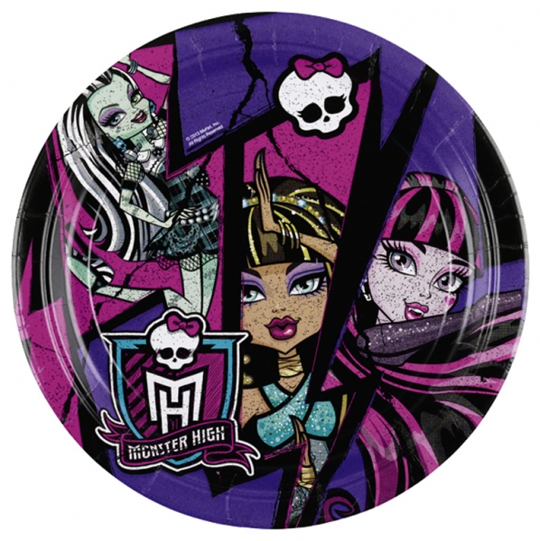 Assiettes Monster High 18cm