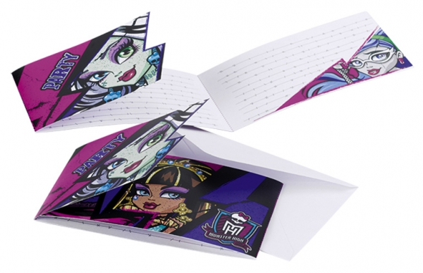 Cartes invitations Monster High